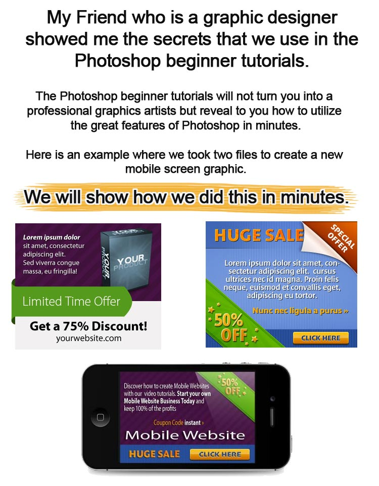 Photoshop beginner tutorials for non graphic artist